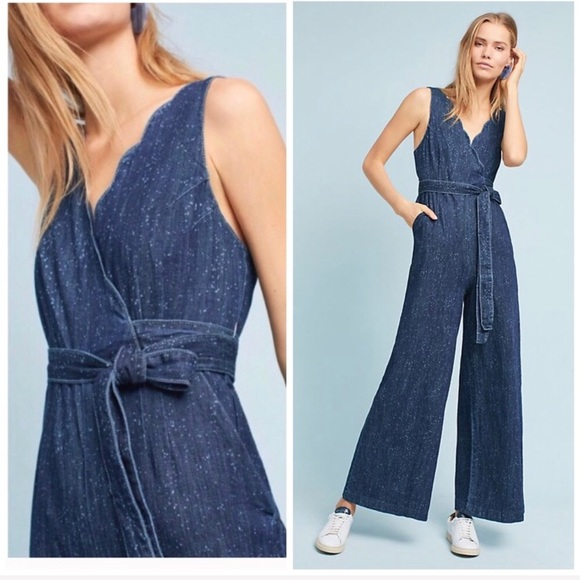 cb4ff70342e5 Anthro Pilcro Lydia Denim Jumpsuit
